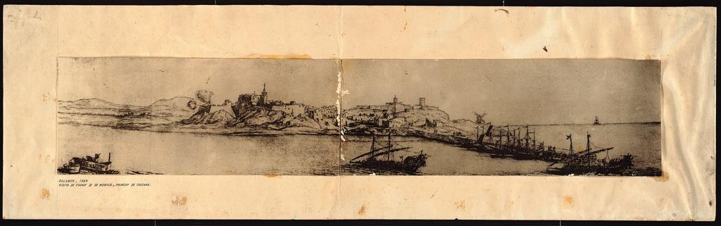 Còpia del gravat Mèdici del port de Palamós en època moderna